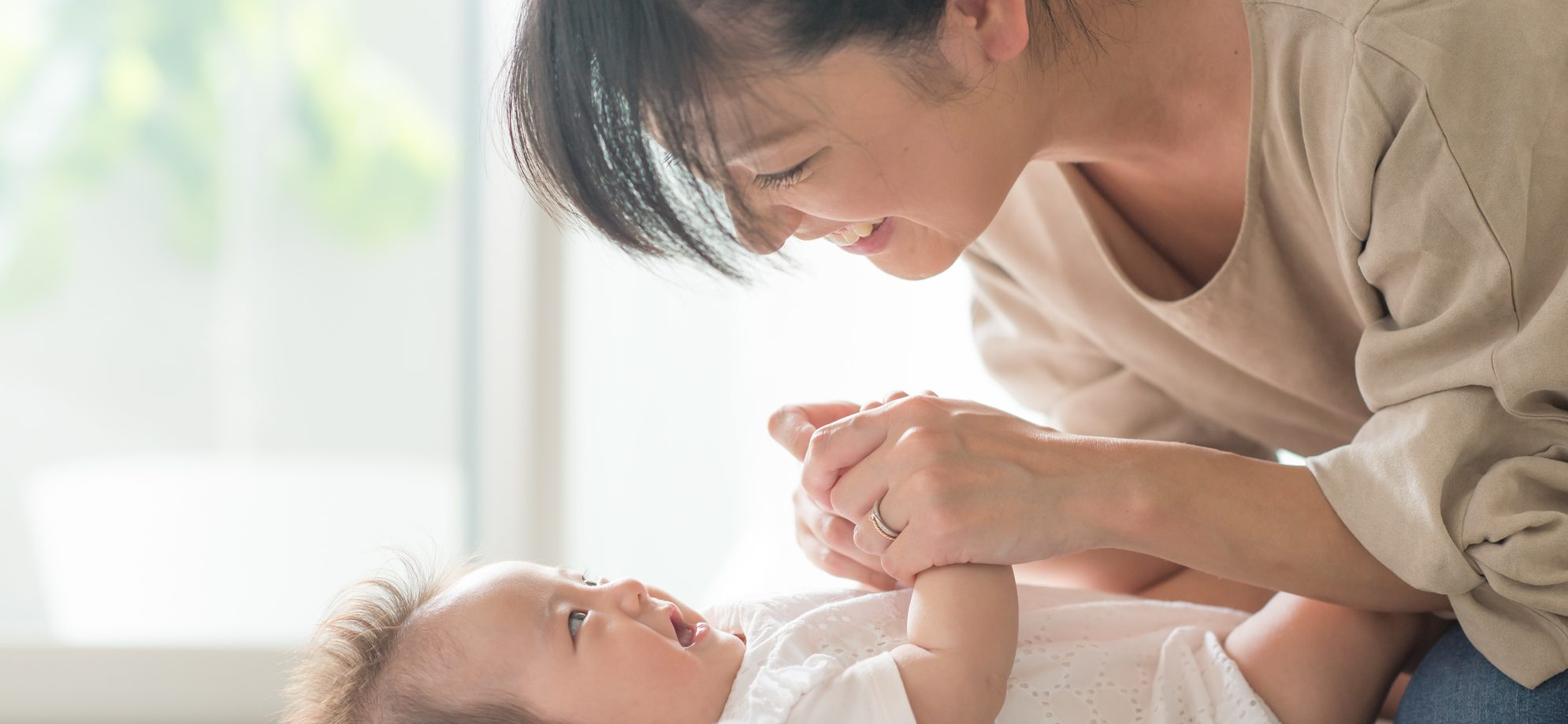 子供とお母さん
